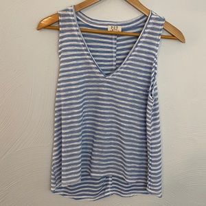 NWOT PST Blue and White Striped tank top! Size XS!